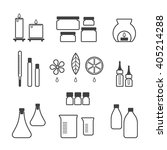 aromatherapy line icon set. | Shutterstock .eps vector #405214288
