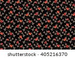 trendy seamless floral ditsy... | Shutterstock .eps vector #405216370