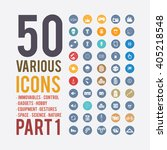 large set of simple icons on... | Shutterstock .eps vector #405218548