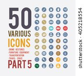 large set of simple icons on... | Shutterstock .eps vector #405218554