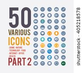 large set of simple icons on... | Shutterstock .eps vector #405218578
