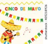 cinco de mayo card | Shutterstock .eps vector #405218926