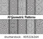 set of 10 abstract patterns.... | Shutterstock .eps vector #405226264