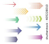 set of dotted arrows. halftone... | Shutterstock .eps vector #405228010