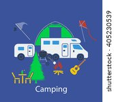 camping flat design in ui...