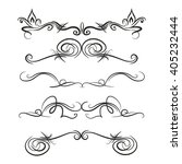 decorative monograms and... | Shutterstock .eps vector #405232444