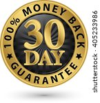 30 day 100  money back... | Shutterstock .eps vector #405233986