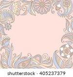 floral frame | Shutterstock .eps vector #405237379