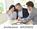 mature couple meeting with... | Shutterstock . vector #405240010