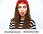 close up positive portrait of... | Shutterstock . vector #405242350