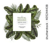 tropical palm leaves. jungle... | Shutterstock .eps vector #405244438