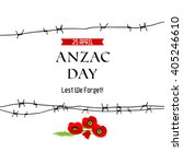 anzac day background for design ... | Shutterstock .eps vector #405246610
