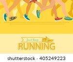summer running marathon  people ...   Shutterstock .eps vector #405249223