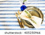 summer time table setting with...   Shutterstock . vector #405250966