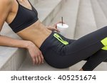 woman recovering from workout   ... | Shutterstock . vector #405251674