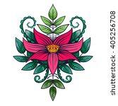 vector color flower illustration | Shutterstock .eps vector #405256708