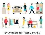 vector shopping and shipping... | Shutterstock .eps vector #405259768