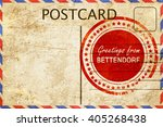 bettendorf stamp on a vintage ... | Shutterstock . vector #405268438