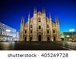 duomo cathedral early in the...   Shutterstock . vector #405269728