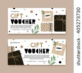 gift voucher with a modern... | Shutterstock .eps vector #405273730