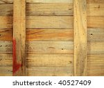 A closeup image of an old wooden crate - stock photo
