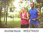 sport people run healthy... | Shutterstock . vector #405274423