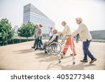 Group Of Senior People With...