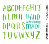 alphabet lettering in brushed... | Shutterstock .eps vector #405280888