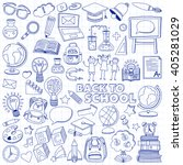 back to school doodle set.... | Shutterstock .eps vector #405281029