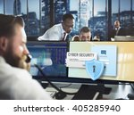 cyber security firewall privacy ... | Shutterstock . vector #405285940