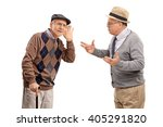 senior man struggling to hear a ... | Shutterstock . vector #405291820