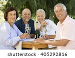 a group of senior couples... | Shutterstock . vector #405292816