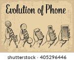 evolution of communication... | Shutterstock .eps vector #405296446