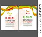 abstract vector template design ... | Shutterstock .eps vector #405300079