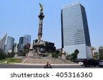 mexico city   13 04 2016   el... | Shutterstock . vector #405316360