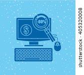 electronic commerce design  | Shutterstock .eps vector #405320008