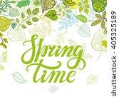 spring design handwriting... | Shutterstock .eps vector #405325189