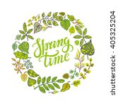 spring design handwriting... | Shutterstock .eps vector #405325204
