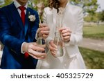 couple on their wedding day...   Shutterstock . vector #405325729