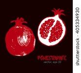 sketched fruit illustration of... | Shutterstock .eps vector #405334930