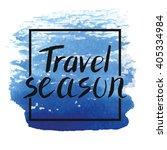 summer calligraphic design... | Shutterstock .eps vector #405334984