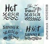 summer calligraphic design... | Shutterstock .eps vector #405335038