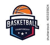 basketball logo  american logo... | Shutterstock .eps vector #405335824