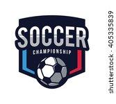 soccer logos  american logo... | Shutterstock .eps vector #405335839