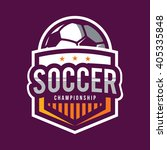 soccer logos  american logo... | Shutterstock .eps vector #405335848