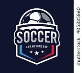 soccer logos  american logo... | Shutterstock .eps vector #405335860