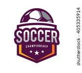 soccer logos  american logo... | Shutterstock .eps vector #405335914
