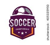 soccer logos  american logo... | Shutterstock .eps vector #405335950