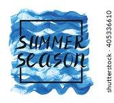 summer calligraphic design... | Shutterstock .eps vector #405336610
