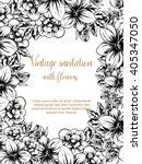 vintage delicate invitation...   Shutterstock . vector #405347050